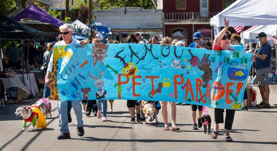 The Pet Parade is a popular event at Oodles of Noodles.