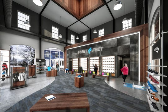 The interior of new Fleet Feet Victor store, which is set to open in August.