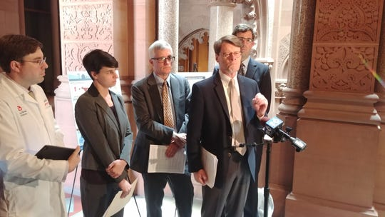 Lawmakers and advocates gathered in Albany on Monday to urge the passage of a bill that would reduce the use of antibiotics in food-producing animals.