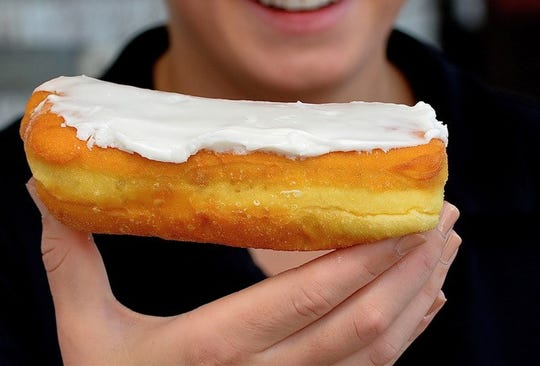 The doughnuts at Honeoye Falls Market Place are made from scratch.