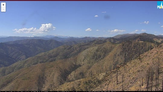 This image was captured by a Pacific Gas & Electric Co. camera installed on South Fork Mountain north of Whiskeytown Lake in Shasta County.