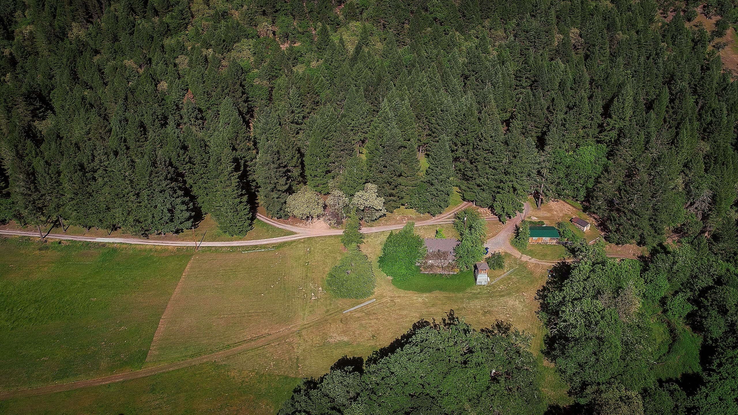 Open space protects the Doubletree Ranch near Merlin. During the 2018 wildfire season, fires threatened, but never came on to the property. Since then, owners Rick and Carol Ponte continue to remove flammable brush.