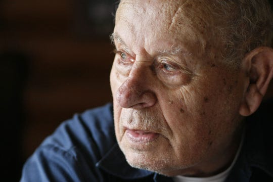 "Bill Wingett, photographed at his home in 2011, served with the famous ""Band of Brothers"" unit during World War II."