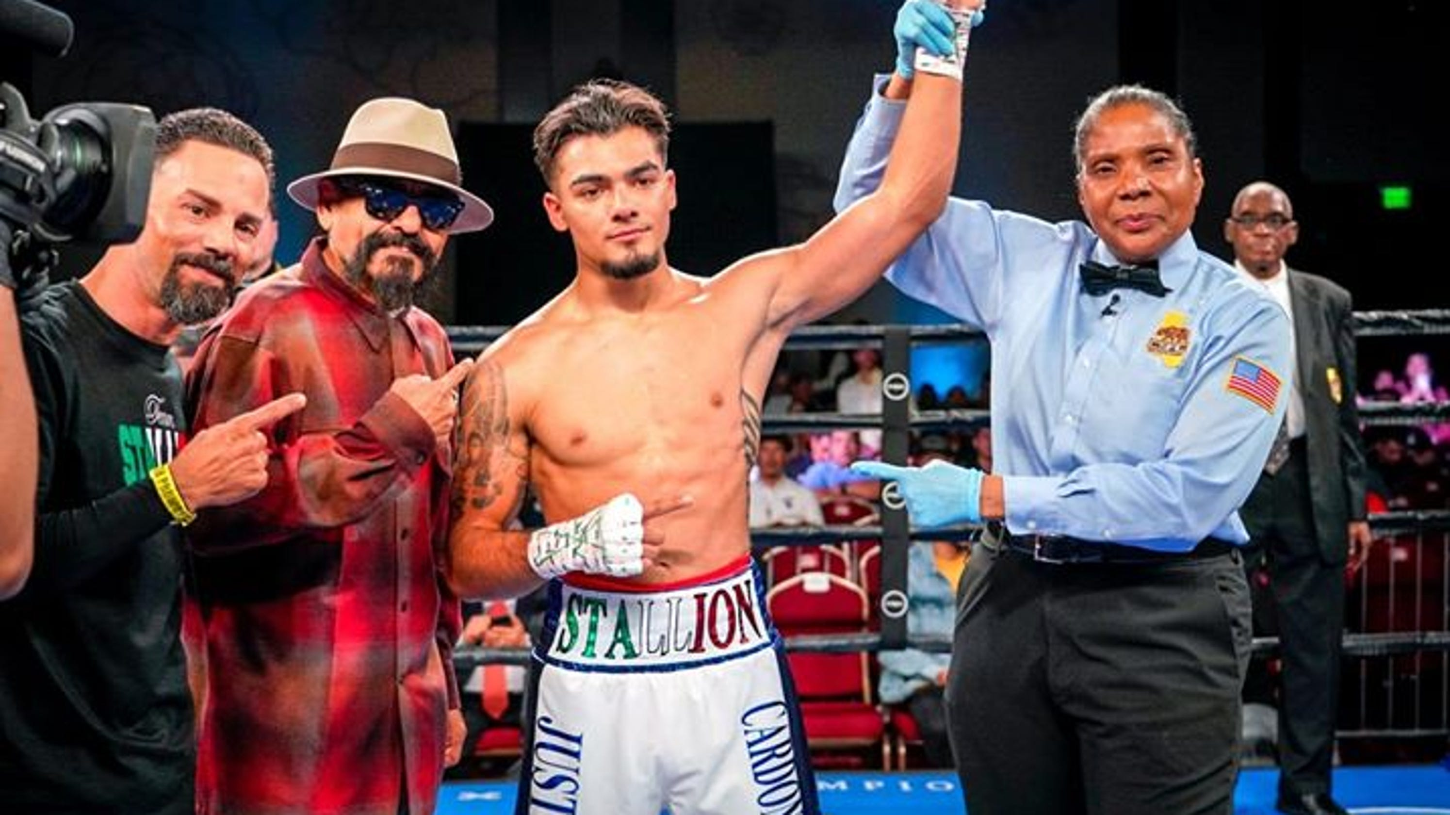East Salinas Native Cardona Wins Boxing Match By First