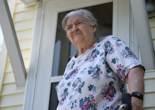 Ruth Larmore, 77, stands just outside her house in Salisbury, Maryland, on June 3, 2019. Living alone, the local senior is enrolled in MAC's Senior Nutrition Program, recieving Meals on Wheels Monday through Thursday.