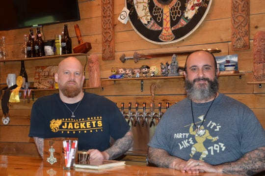 "Jon Talkington and Rober ""J.R."" Walker are the co-owners of Brimming Horn Meadery in Milton."