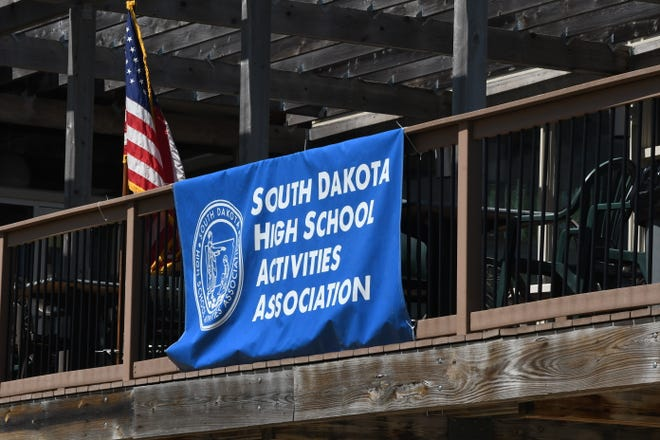 SDHSAA flag at the Class A girls state golf tournament.