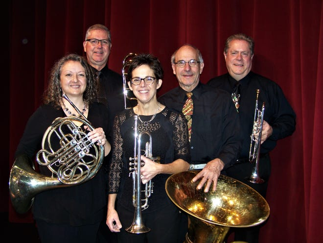 """Granite City Brass will be performing""""A Nightingale Sang in Barkley Square""""at 3 p.m. June 9 in Munsinger Gardens."""