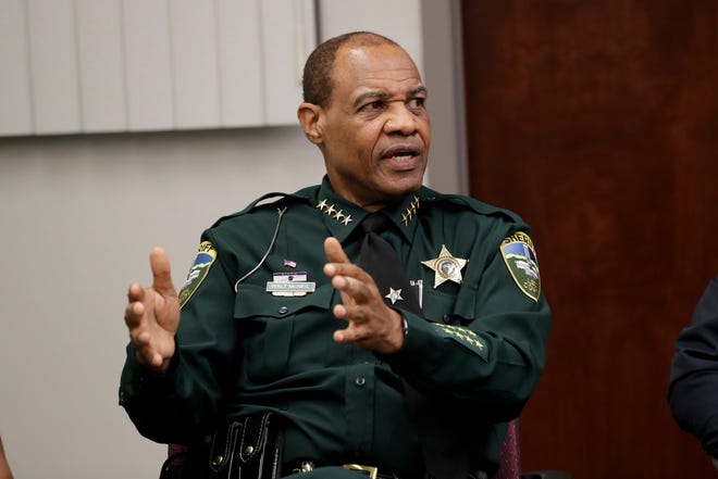 Leon County Sheriff Walt McNeil during a meeting between area law enforcement and the Tallahassee Democrat to discuss a new federal, state and local strike force created to target gun crime Monday, June 3, 2019.