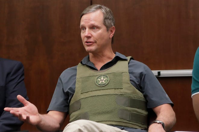 U.S. Attorney for Northern District of Florida Lawrence Keefe speaks during a meeting between area law enforcement and the Tallahassee Democrat to discuss a new federal, state and local strike force created to target gun crime Monday, June 3, 2019.