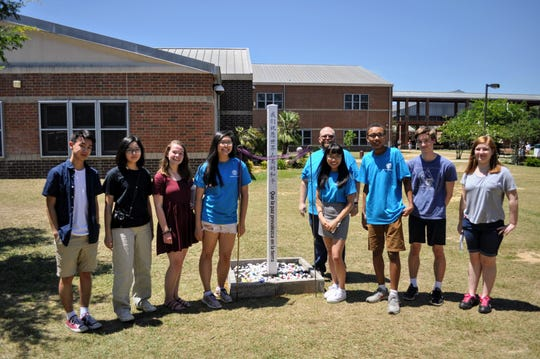 Peace Pole at Chiles High School.