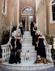 The Friends of The Farm Dog Rescue Black Tie & Tails planning committee, from right, includes Keri Burgess, Val Terrett, Kathy Zebrowski, Terry Mulka, Alexis Cameleo, Jerri Smith, Debora Fiske, Amy Hayden and Michelle Liebowitz.