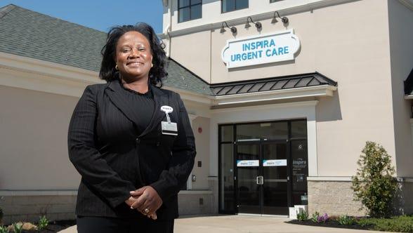 Dr. Evelyn Balogun, Medical Director Inspira Health Occupational Medicine at Inspira Health Urgent Care Tomlin Station in Harrison Township, Thursday April 4, 2019.