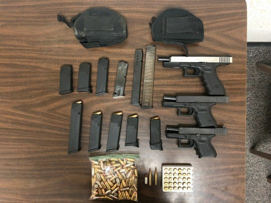 Visalia police found three guns belong to Robert Cervantes on Monday, June 3, 2019.