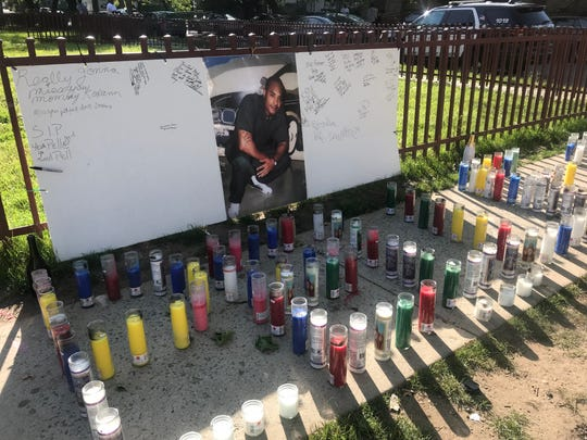 A memorial to Jermial Rose, known as Pelle, at South Eighth Avenue and West Fifth Street near where he was stabbed to death Saturday, June 1, 2019.