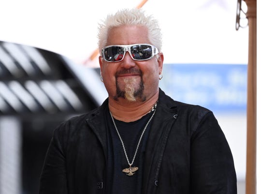 Chef Guy Fieri was honored with the 2,664th Star on the Hollywood Walk of Fame Star, in Hollywood, California.