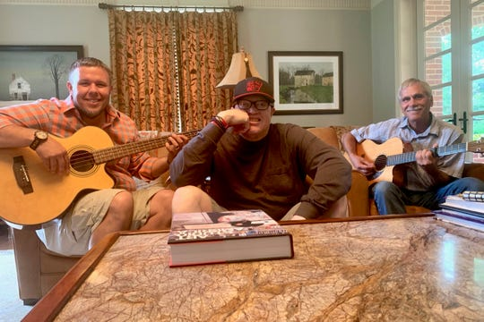 Bassist Brian Beck, singer Malford Milligan and guitarist Robert Duncan rehearse an acoustic set for when Milligan and Deep in It perform at 7:30 p.m. June 13 at Sounds of Speedway at the Forum