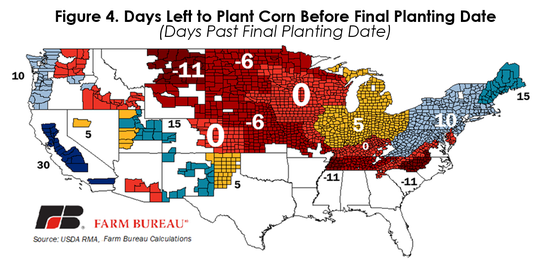If Mother Nature cooperates, some farmers still have time to plant corn before they begin to lose a share of the crop insurance coverage.