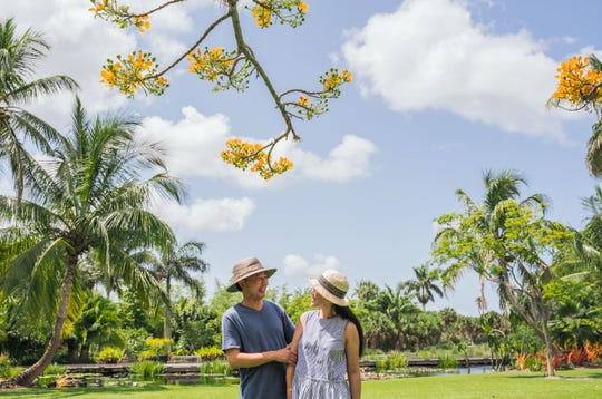 Naples Botanical Garden offers a serene setting for couples to reconnect.