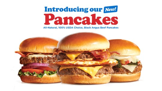 "In a new ad campaign, IHOP calls its burgers ""pancakes."""