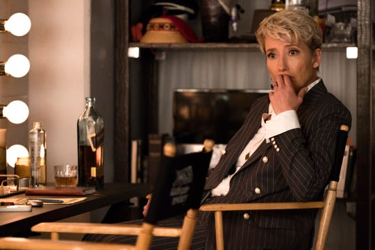 "Comedian Katherine Newbury (Emma Thompson) must reckon with slipping ratings and a show shakeup in ""Late Night."""