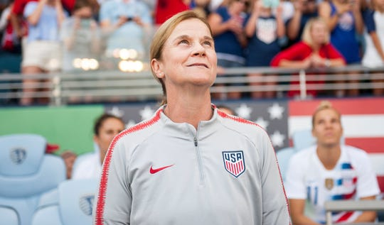 U.S. coach Jill Ellis and her team is looking to repeat as World Cup champions.