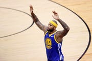 DeMarcus Cousins had 11 points, 10 rebounds and 6 assists Sunday in the NBA Finals.