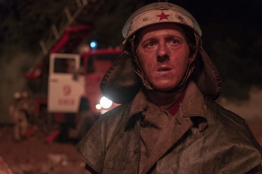 "Vasily Ignatenko battles the core fire in ""Chernobyl."""