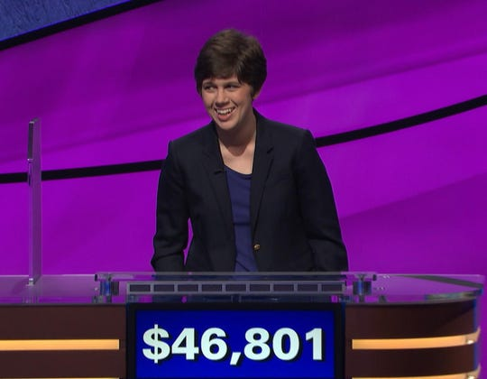 Emma Boettcher, a Chicago librarian, became the new 'Jeopardy!' champion thanks to two Daily Doubles and aggressive wagering.