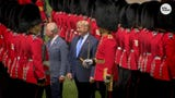 """Queen Elizabeth II and the royal family welcomed President Donald Trump and first lady Melania Trump with """"The Star Spangled Banner."""""""