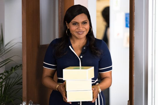 "In ""Late Night,"" Molly (Mindy Kaling) arrives for her first day working in a real writers' room determined to win her white male colleagues over."