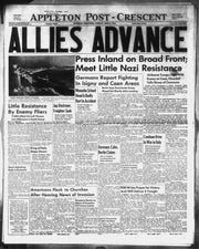 June 6, 1944 front page of the Appleton Post-Crescent