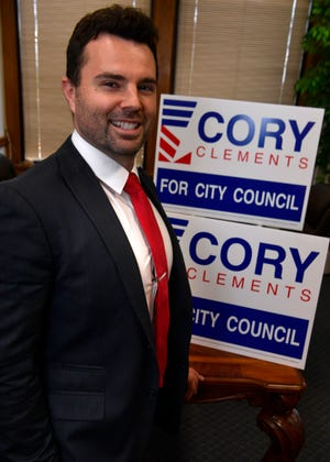 Blaise Regan at his office. Regan was part of Cory Clements' 2017 campaign for Abilene City Council, and believes his candidate taps the views of under 40 Abilenians.
