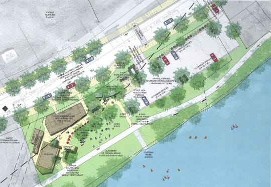 Plans for the Jettie Rae's restaurant property, proposed for 144 Riverside Dr.