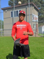 Marshall centerfielder Rickey Nye is a standout on the field and in the classroom despite a challenging start to life when he was born premature and lost his mother when he was three.