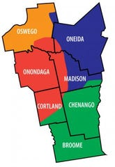 Diocese of Syracuse covers seven counties in New York.