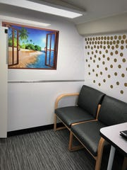 A chemical dependency professional or mental health counselor uses this space to meet with patients.