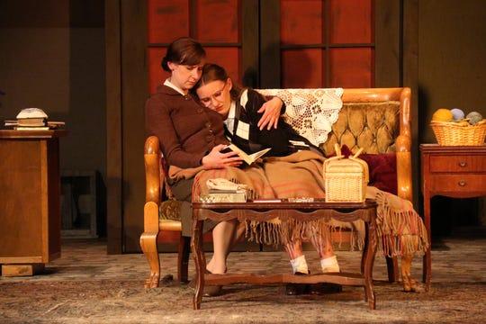 In hiding: Mrs. Frank (Hannah Nelsen, left) and her older daughter, Margot (Marcella Fischer).