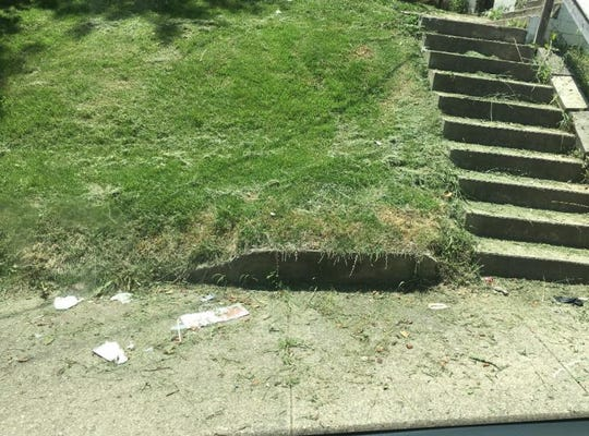 Grass clippings pose a threat to motorcyclists and can clog storm drains.