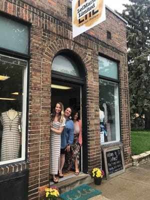 LeiMarie Limited has opened a boutique in Sharonville. From left is Chrissy Gedeon of Sharonville, the owner; Alanna Haas of Reading, lead stylist champion; and Cheryl Frasier of Deer Park, head business coordinator and stylist champion.