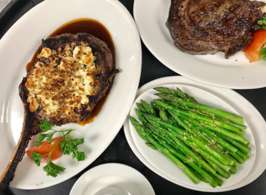 The Tomahawk Chop, one of the most popular menu items at Steakhouse 85.