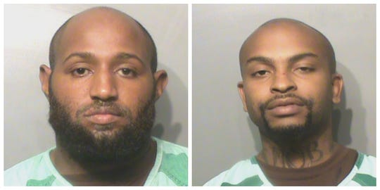 Nicholas T. Robinson, left, and Gary Robinson Jr. have been arrested for allegedly trying to burglarize a Walgreens.