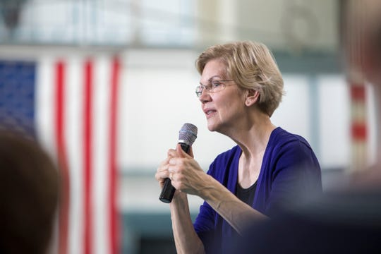 Elizabeth Warren speaks to supporters at Focus: Hope in Detroit, Mich., Tuesday, June 4, 2019.