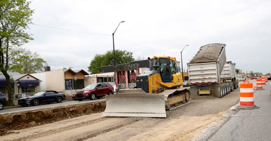 At construction sites like this one -- on Livernois in Detroit on May 25, 2019 -- excavators call MISS DIG to avoid striking underground gas and electric lines.