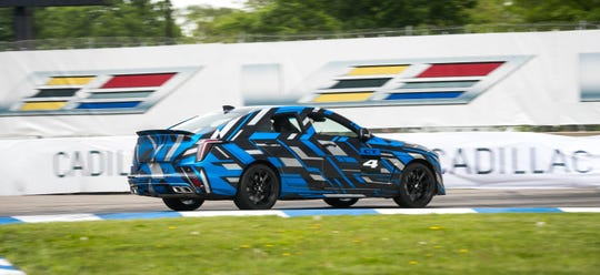 One of  two prototypes takes a lap around the Chevrolet Detroit Grand Prix presented by Lear track Saturday,  June 1, 2019, on Belle Isle in Detroit, Michigan. The prototypes represent the next step in Cadillac's V-Series performance legacy.