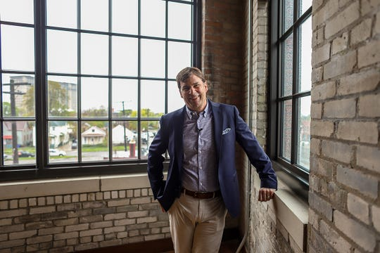 Jim Farley at The Factory at Corktown in Detroit in 2019.