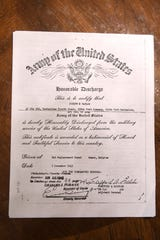 Joseph B. Taylor's honorable discharge paper from the Army.