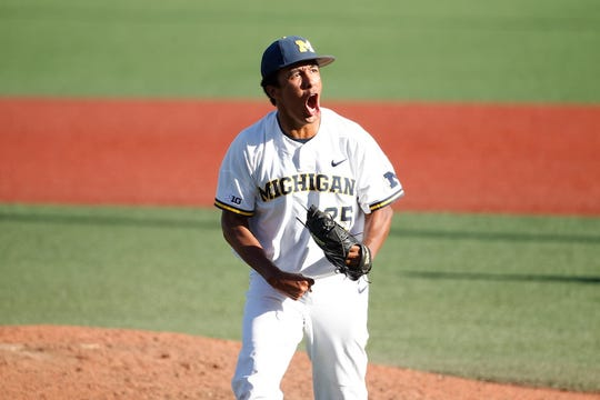 Michigan pitcher Isaiah Paige scattered two hits in two innings of relief in Monday's 17-6 win over Creighton.