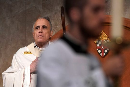 Cardinal Daniel DiNardo presides over a Mass of Ordination for candidates for the priesthood at the Co-Cathedral of the Sacred Heart in Houston Saturday, June 1, 2019.