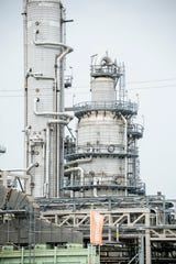 The Marathon petroleum refinery in southwest Detroit.